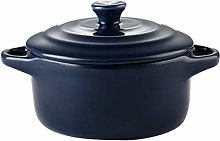 TOYANDONA 230ml Ceramic Baking Bowl with Lid and