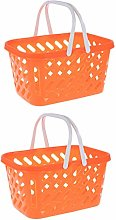 TOYANDONA 2pcs Shopping Basket Toy Play Grocery