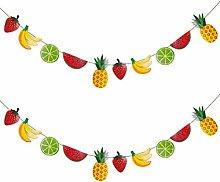 TOYANDONA 2Pcs Summer Fruits Banner Watermelon