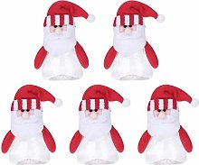 TOYANDONA 5pcs Christmas Candy Jars Santa Claus
