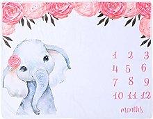 TOYANDONA Baby Monthly Milestone Blanket Boy and