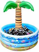 TOYANDONA Floating Palm Tree Inflatable Cooler