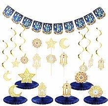 TOYANDONA Ramadan Party Decoration Supplies, Gold