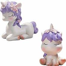 TOYANDONA Resin Unicorn Figurines Miniature Animal