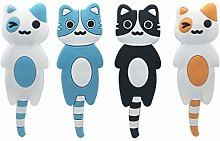 Toyvian 4pcs Cute Multifunction Cat Magnetic