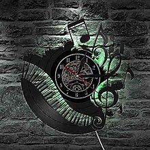 TPFEI Wall Clock Disk Vinyl Piano Elegant Music