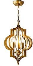 TPMAFF Chandelier Copper Gold Retro Iron Lamp