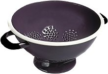 TPS Footed Colander 22cm Purple Enamel
