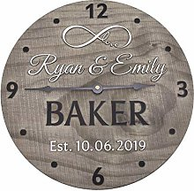 Tr73ans 12 Inch Wedding Anniversary Clock with