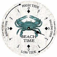 Tr73ans Beach Time Tide Clock, Home Office School