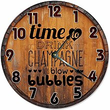 Tr73ans CHAMPAGNE CLOCK Large, Clock Novelty