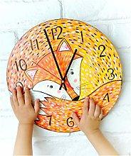 Tr73ans Cute Orange Fox Wall Clock, Modern wall