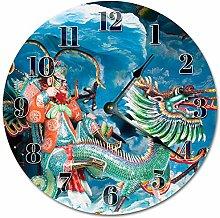Tr73ans DRAGON SCULPTURE Clock, Living Room Clock,