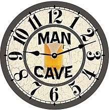 Tr73ans Man Cave Wall Clock for Living Room Home