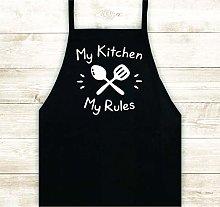 Tr73ans My Kitchen My Rules Apron Custom Design