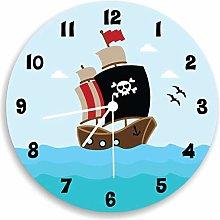 Tr73ans Pirate wall clock, Children Wall Clock,