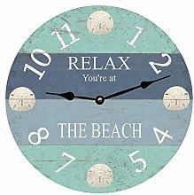 Tr73ans Sand Dollar Clock, Home Office School