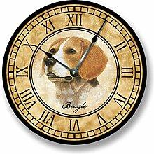 Tr73ans Wall Clock, Beagle wall CLOCK, color