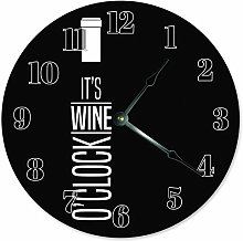 Tr73ans Wood IT'S WINE O'CLOCK, Black and