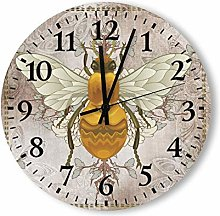 Traasd11an 12 Inch Round Wood Wall Clock with