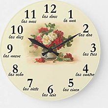 Traasd11an 15 by 15-inch Wall Clock, Clock with