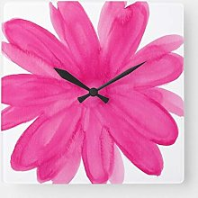 Traasd11an 15 by 15-inch Wall Clock, Hot Pink