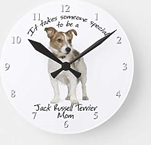 Traasd11an 15 by 15-inch Wall Clock, Jack Russell