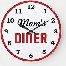 Traasd11an 15 by 15-inch Wall Clock, Moms Diner