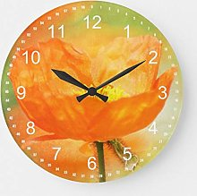 Traasd11an 15 by 15-inch Wall Clock, Orange Poppy