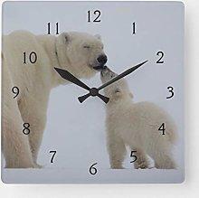 Traasd11an 15 by 15-inch Wall Clock, Polar Bear