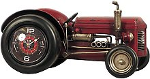 Tractor Table Clock Williston Forge Colour: Red