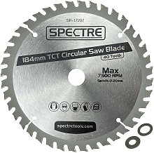 Trade Pro Circular Saw Blade 184 X 20 40 Teeth