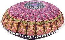 Trade Star Exports Mandala Pillows, Large Floor