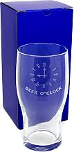 Traditional 1 Pint Tulip Lager, Beer Glass,