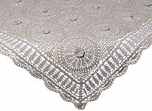 Traditional 100% Cotton Floral Crochet Tablecloth