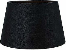 Traditional 12 Inch Black Linen Fabric Drum