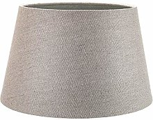 Traditional 12 Inch Grey Linen Fabric Drum