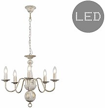 Traditional 5 Way Flemish Style Ceiling Light