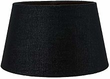 Traditional 8 Inch Black Linen Fabric Drum