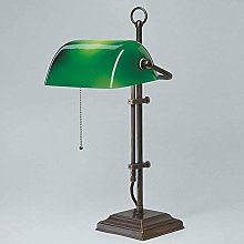 Traditional Banker lamp Brass Base Handcrafted
