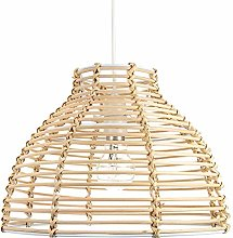 Traditional Basket Style Light Brown Rattan Wicker
