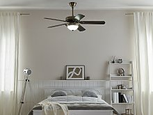 Traditional Ceiling Fan with Light Gold and Dark