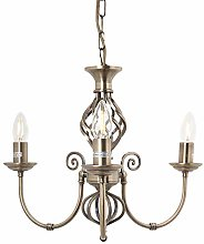 Traditional Classic Knot Twist 3 Light Antique