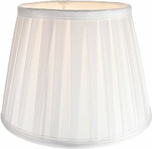 Traditional Classic White Faux Silk Pleated Inner
