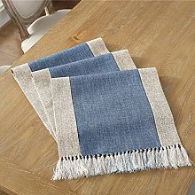 Traditional Coffee Dining Linen Cotton Woven Table