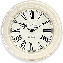 Traditional Cream Wall Clock with Black Roman