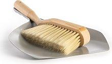 Traditional Dustpan & Brush Set | M&W - Silver