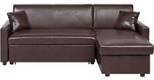 Traditional Faux Leather Dark Brown Left Hand