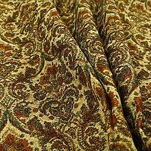 Traditional Floral Damask Pattern Beige Orange Red