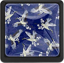 Traditional Japanese Birds and Water White and